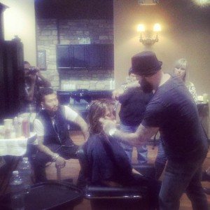 The LD50 crew teaching a class at Ricca Donna Salon in Murietta, Talk about hard workers! These guys were such an inspiration!