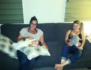Sleepy babies and happy mamas